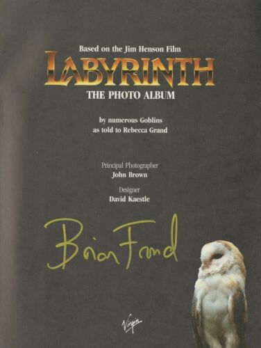 """Jim Henson's Labyrinth """"The Photo Album"""" Book, Signed by Brian Froud!!"""