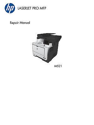 HP LaserJet Pro MFP M521 - Service M./Part & Diagrams + Troubleshooting M. PDF