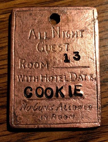 """COOKIE"" 1882 LONG BRANCH DODGE CITY KANSAS BROTHEL TOKEN"