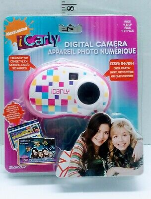icarly Digital Camera Picture Toy Childrens Viacom 2010 Holds up to 120 Pic Pink ()