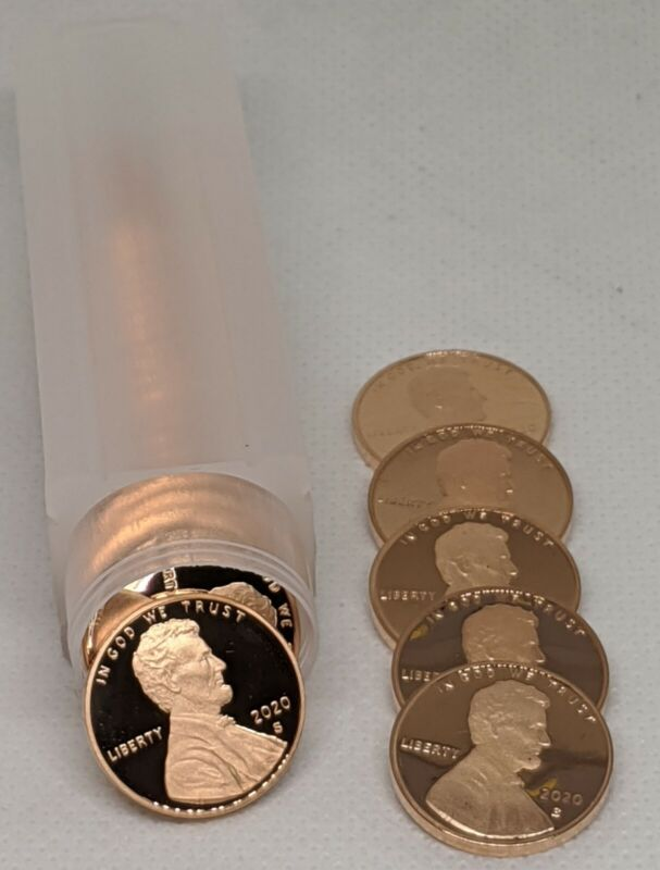 2020 S Proof Lincoln Cent Roll (30 Coins)