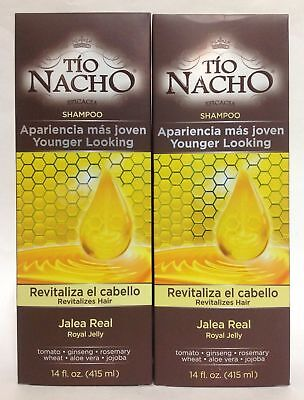 2 Tio Nacho Champús Looking Younger 414ML Revitaliza Pelo/Apariencia mas Joven