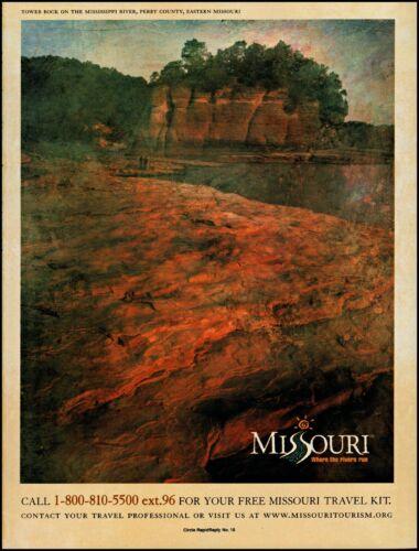 1999 Tower Rock Mississippi river Missouri tourism vintage photo print ad ads39