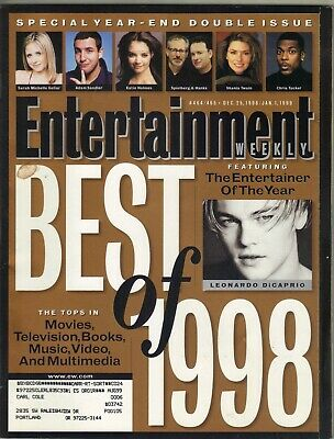 LEONARDO DICAPRIO BEST OF 1998 Entertainment Weekly Magazine 12/25/98