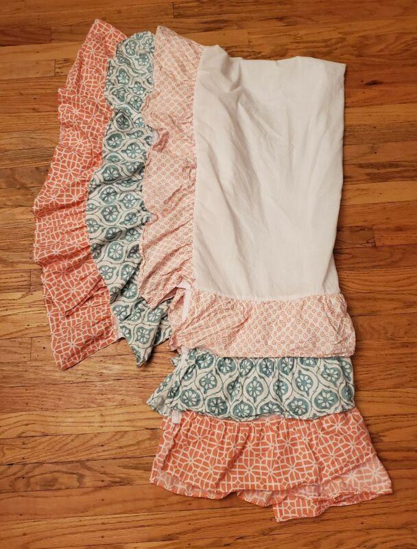 Levtex Baby Fiona Ruffled Crib Skirt Dust Ruffle EUC