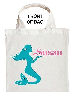 Halloween Trick Treat Bags Personalized (Mermaid Trick or Treat Bag, Personalized Mermaid Halloween Bag, Mermaid Loot)