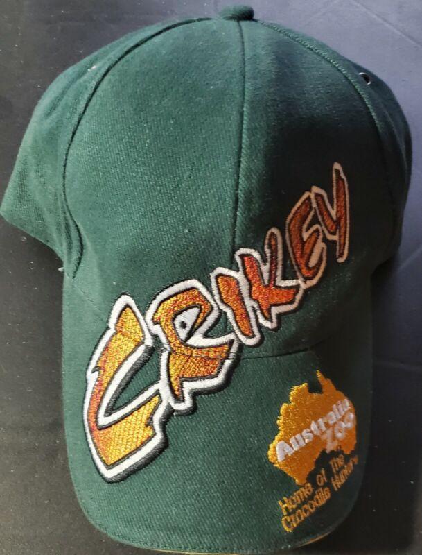 Australia Zoo Hat Crikey Green hat with Gold Trim.