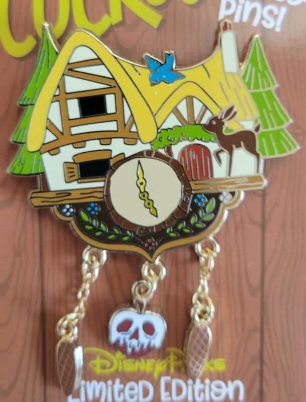 Disneyland 2021 Snow White Seven Dwarfs Cottage Cuckoo for Disney LE Pin