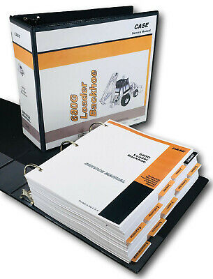 Case 680g Loader Backhoe Tractor Service Technical Manual Repair Shop In Binder