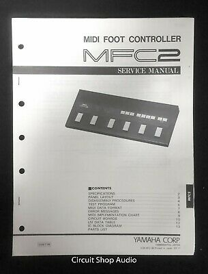 Used, Original Yamaha / MFC2 MIDI Foot Controller / Service Manual for sale  Shipping to India