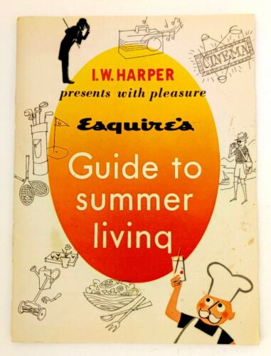 I.W. Harper Bourbon Esquire Magazine 1959 Men