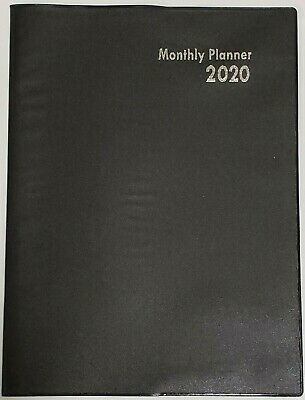 2020 Monthly Plannercalendar Black 10 X 7.5 Inches