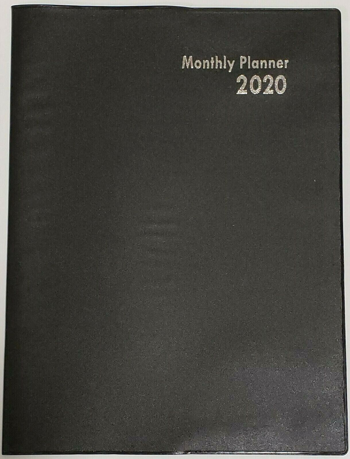 2020 Monthly Planner/Calendar, Black 10 x 7.5 Inches
