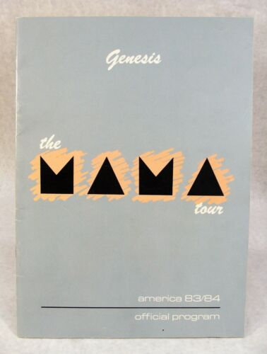 GENESIS 1983/84 THE MAMA CONCERT TOUR PROGRAM/POSTER