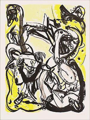 """Heiko Herrmann """"Schuld und Sühne II"""", 1989 Lithografie, handsigniert"""