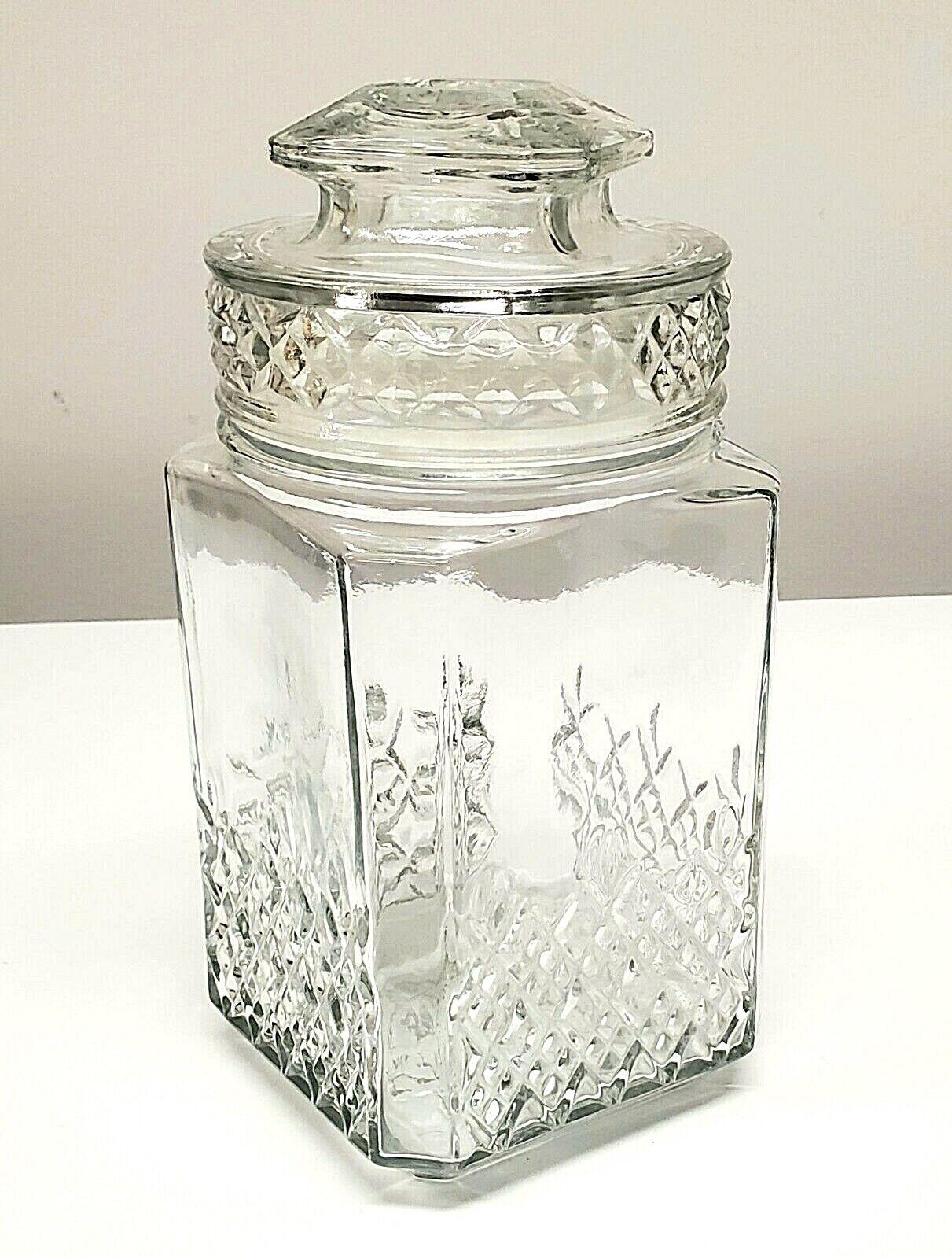 Vintage Koeze s Clear Glass Apothecary / Storage Jar - 9 3/8 X 4 1/2  - $15.00