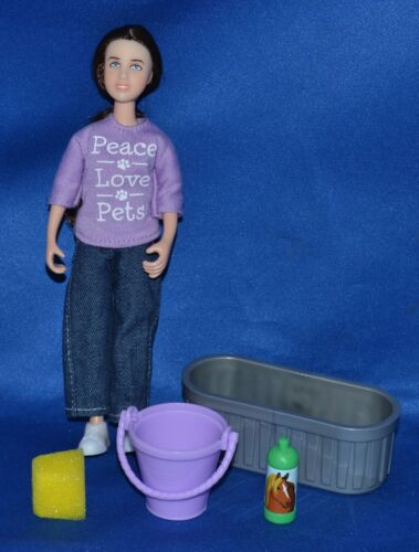 Breyer~2014-17~Classic~Girl Doll & Accessories From Pet Groomer~Trough~Bucket