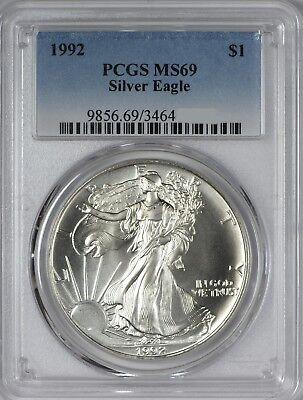 1992 American Silver Eagle PCGS MS69