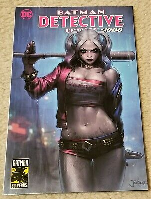 DETECTIVE COMICS 1000 JEEHYUNG LEE HARLEY QUINN LOGO VARIANT-A VERY RARE HOT!](Hot Harley Quinn)