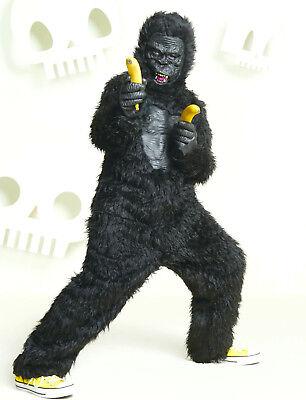 Child King Halloween Costume (Gorilla Halloween Costume Child Kid L XL King Kong Ape Full)