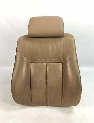 BMW E39 5-Series E38 Sand Tan Leather Front Seat Backrest Cushion 1995-1998 OEM