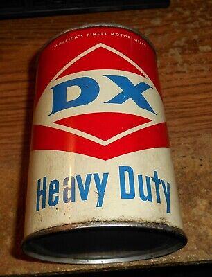 VINTAGE DX HEAVY DUTY MOTOR OIL ONE QUART CAN/TOUGH!