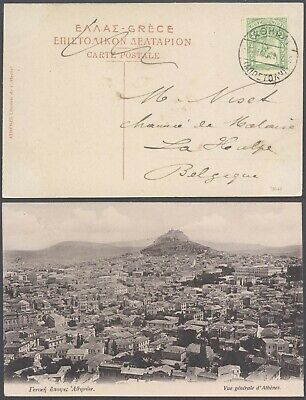 Greece 1909 - Postcard Athens to Belgium D25