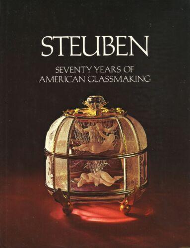 Steuben Art Glass 1903-73 - Crystal Cluthra Grotesque Etc / Scarce Hardback Book