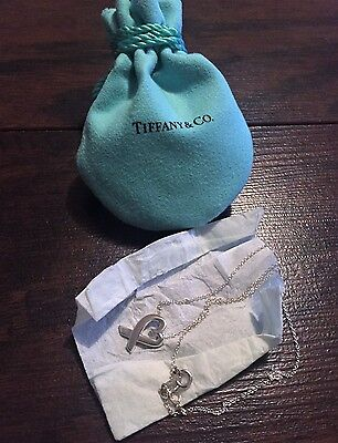 Tiffany & Co. SS 925 Paloma Picasso Loving Heart Pendant on 16in. Necklace $200.