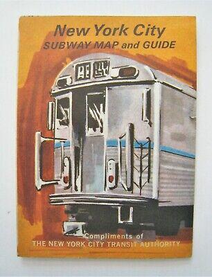 Vintage 1967 New York Subway Map Transit System Guide Metro Transit Map