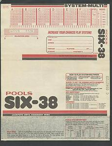 1970s Australian Soccer Pools NSW Lottery Entry Form Unused Port Macquarie Port Macquarie City Preview