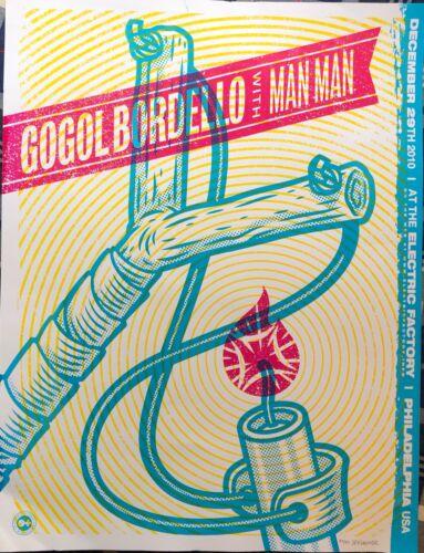 Rare Gogol Bordello  / Man Man Poster Philadelphia Dec 2010  Limited run of 50