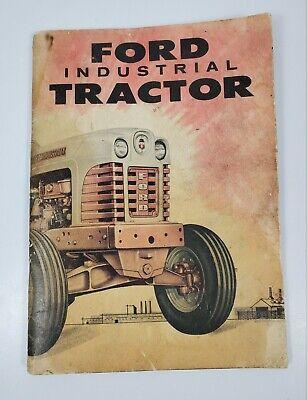 Original Ford Series1801-d Diesel Industrial Tractor Owners Manual 1958