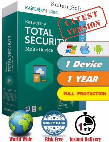 Kaspersky Total Security - 1Dev/1Yr - 2021 - Global Key - Instant Email Delivery