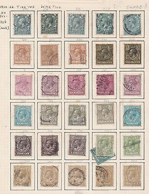 Lot:38957  GB George V  1912-22 Definative issue   shades from 4d to 1s