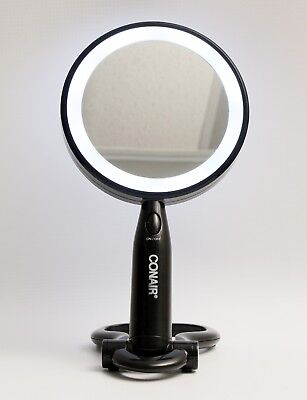Conair Lighted Makeup Mirror LED with Folding Base Stand Black - Conair Lighted Makeup Mirror