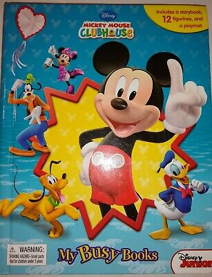 Disney Mickey Mouse Clubhouse My Busy Books Figurines Playmat Story Set Complete