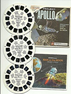 Viewmaster B 658 Apollo Project NASA Man on the Moon G1-G2