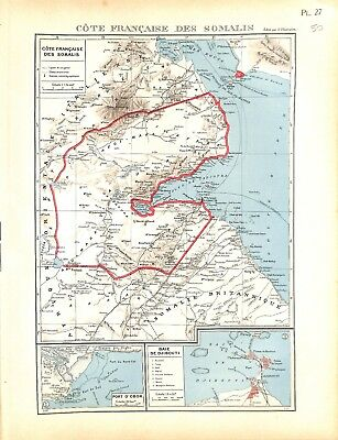Colonial Empire French Side / Coast French of Somalies Djibouti Card Atlas 1937