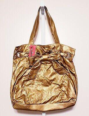 - Chinese Laundry Gold Purse Hobo Shoulder Bag Handbag Bow Large Shimmer