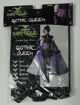 Totally Ghoul Women's Gothic Queen Corset NEW Halloween Costume Adult Boo!tique
