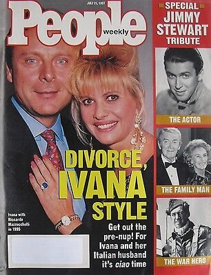 Ivana Trump 1997 People Magazine Jimmy Stewart Tribute