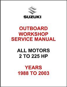 Suzuki Outboard Manual | eBay