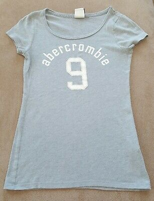 "Abercrombie Kids Girls Size Medium Light Gray ""9"" TShirt"