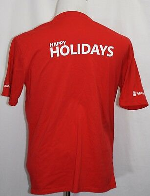 Microsoft  Happy Holidays  Microsoft Com T Shirt Red Large Own It Adult Large