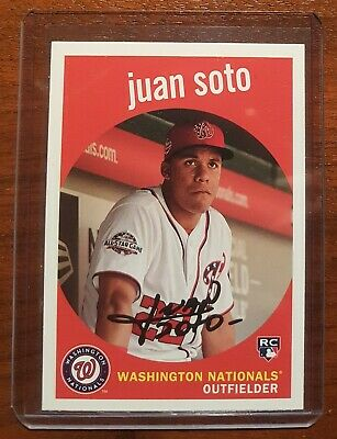 Juan Soto RC Rookie Card 2018 Topps Archives #73 - Washington Nationals