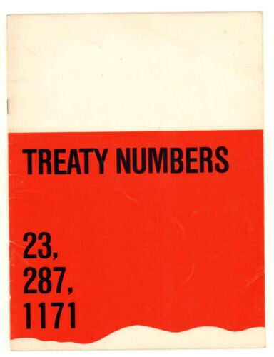 Treaty Numbers 23, 287, 1171 Three Indian Painters Exhibition Catalogue , 1972