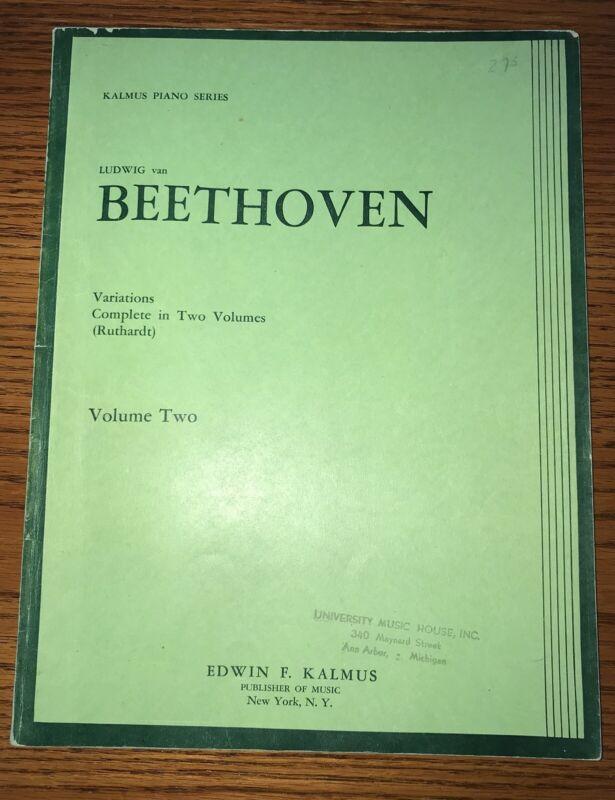 Beethoven: Variations (Ruthardt), Volume 2. Kalmus Piano Edition   eBay