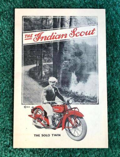 RARE ORIGINAL 1928 INDIAN SCOUT MOTORCYCLE BROCHURE FOLDER MODEL G GP POSTER