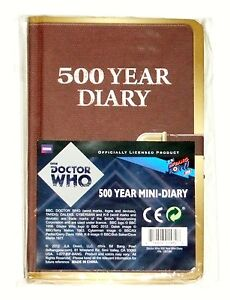 NEW Doctor Who 500 Year Mini Journal Diary - Pocket Sized - Free Shipping